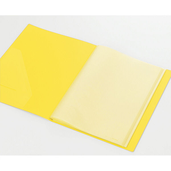 キングジム クリアーファイルカラーベース(タテ入れ) A4タテ 40ポケット 黄 132CW