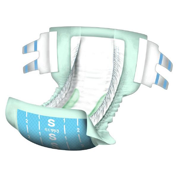 リリーフ 病院施設用 股モレ防止テープ止め S 1箱(68枚:34枚×2パック) 業務用 大人用紙おむつ 花王