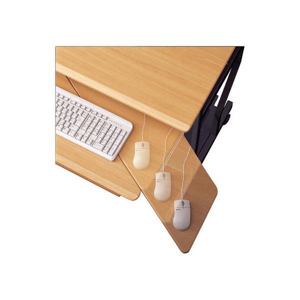 白井産業 PCデスク(複合機設置タイプ) ナチュラル (直送品)