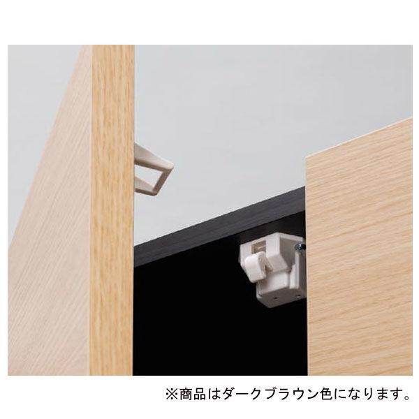 白井産業 壁面収納AVボード(42V) ブラウン (直送品)