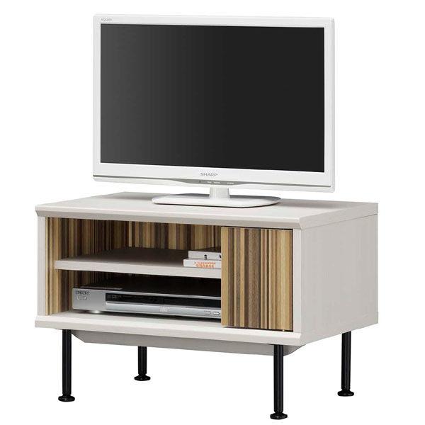 お洒落なコンパクトテレビ台 ホワイト