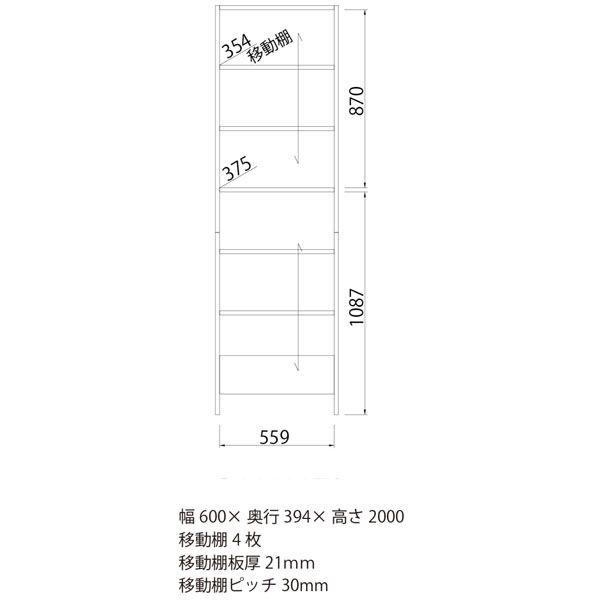 白井産業 壁面フリーラック 幅600mm 1台 (直送品)