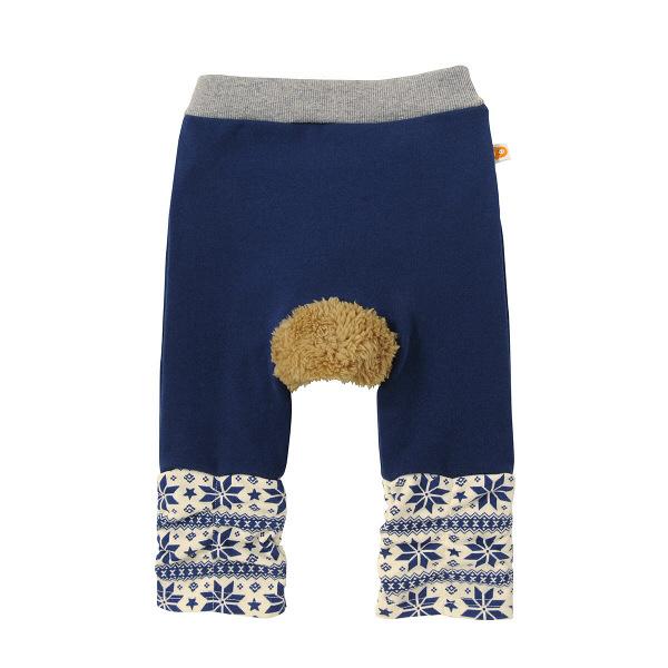 ベビーパンツ  紺×白  80cm