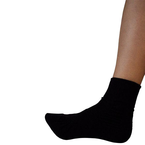コーポレーションパールスター 転倒予防靴下 アガルーノ 黒(22~23cm) 2足組 (取寄品)