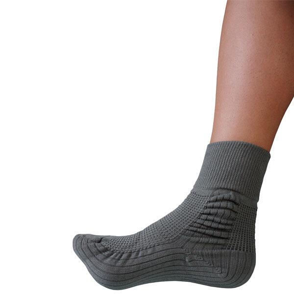 コーポレーションパールスター 転倒予防靴下 アガルーノ グレー(25~26cm) 2足組 (取寄品)