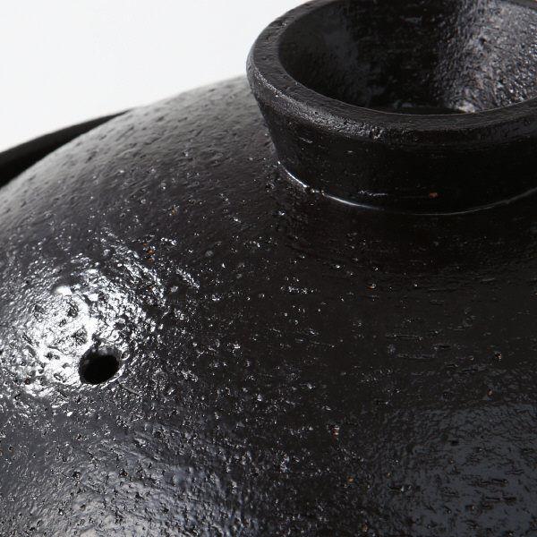 伊賀焼土鍋・黒釉 2~3人用