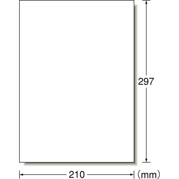 エーワン ラベルシール ハイグレード パッケージ・宛名ラベル プリンタ兼用 マット紙 白 A4 ノーカット1面 1袋(100シート入) 76301