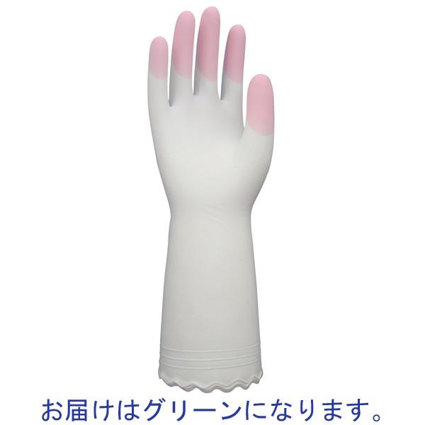 ファミリービニール手袋 薄手 Lグリーン