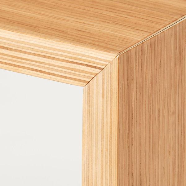 コの字の家具・積層合板オーク材・35cm
