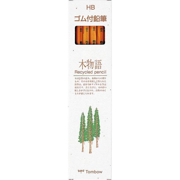 株式会社トンボ鉛筆 ゴム付鉛筆 木物語 HB LGーKEAHB 1セット(2ダース) (直送品)
