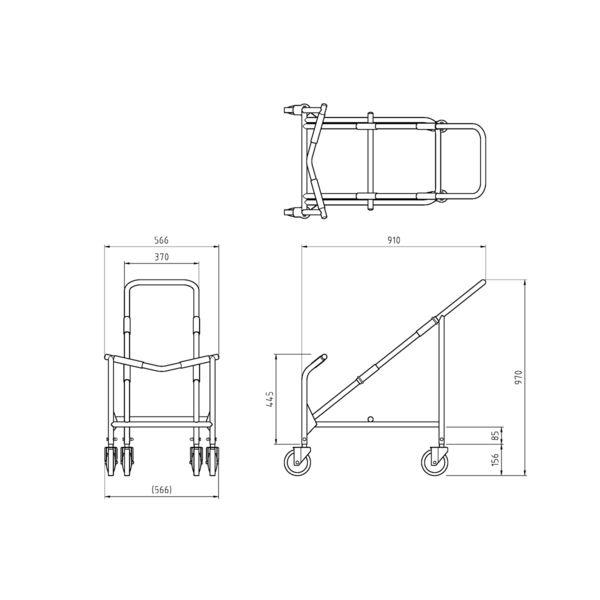 アイリスチトセ スタッキングチェア専用台車 LTS-40 (直送品) 1台