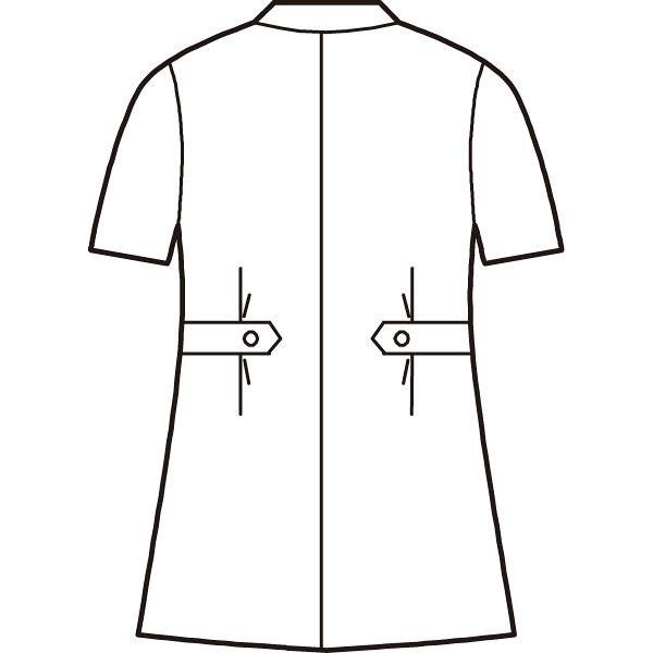 AITOZ(アイトス) オープンネックチュニック(ナースジャケット) 半袖 レモンイエロー M 861369-019