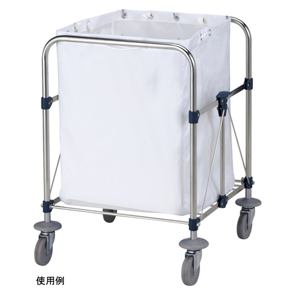 山崎産業 リサイクルカート Y-2 収納袋 小 ホワイト C250-002X-MB (直送品)