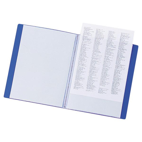 リヒトラブ クリヤーブック A4タテ 10ポケット 青 G3200-8 1セット(30冊:10冊入×3箱)