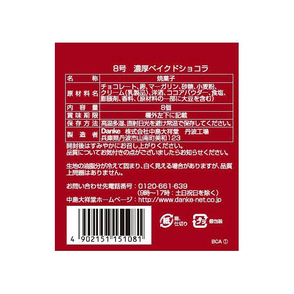 中島大祥堂 濃厚ベイクドショコラ 1箱