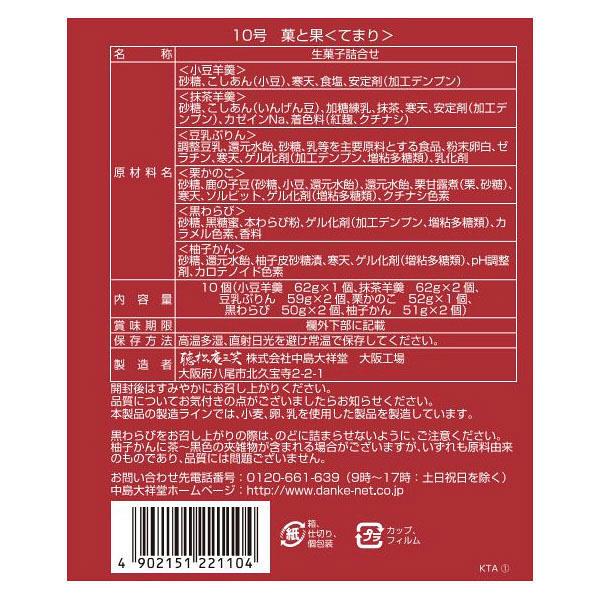 中島大祥堂 菓と果<てまり> 1箱