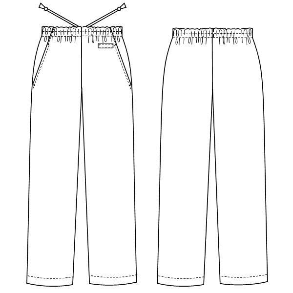 ナガイレーベン 男女兼用パンツ (スクラブパンツ) 医療白衣 ネイビー L SL-5093 (取寄品)