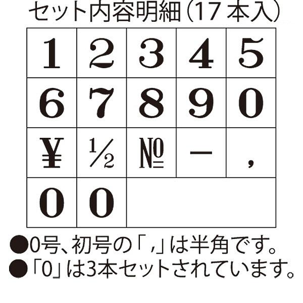シャチハタ 柄付ゴム印連結式 数字5号 GRN-5M