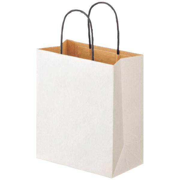 丸紐 手提げ紙袋 白 S 10枚
