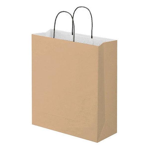 丸紐 手提げ紙袋 茶 L 10枚