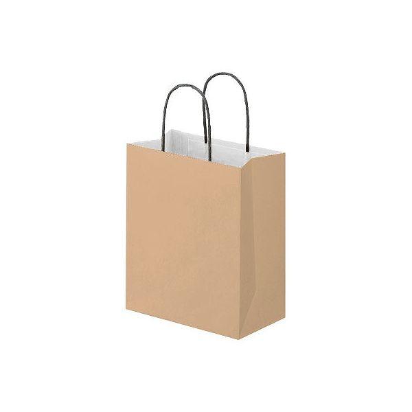 丸紐 手提げ紙袋 茶 S 10枚