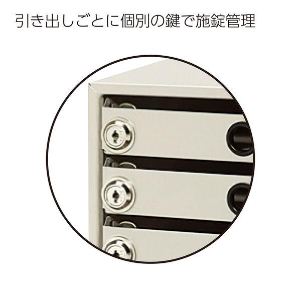 錠付レターケースレターガード A4 7段