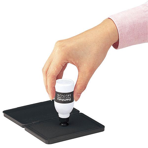 シャチハタ スタンプ台専用補充インク 小瓶 黒 SGN-40-K 1セット(3本:1本×3)