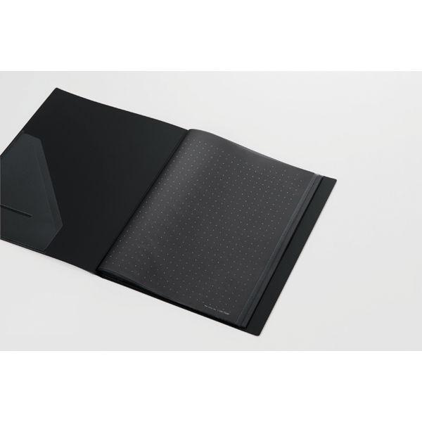 キングジム クリアーファイルカラーベース(タテ入れ) B4タテ 40ポケット 黒 142CW