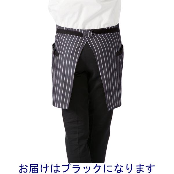 ボンマックス ショートエプロン ストライプ ブラック F (直送品)