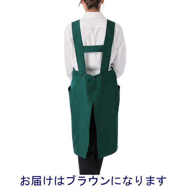 ボンマックス 胸当てエプロン ブラウン M (直送品)