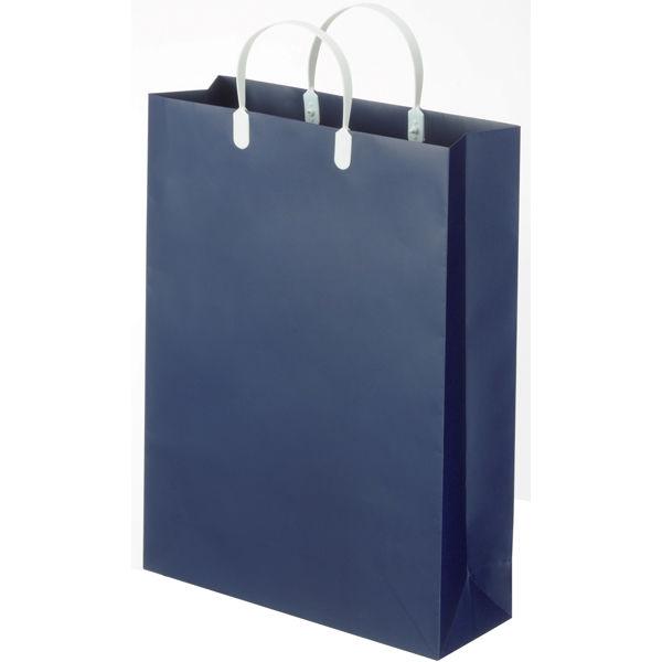 平紐 手提げ紙袋 紺 M 5枚