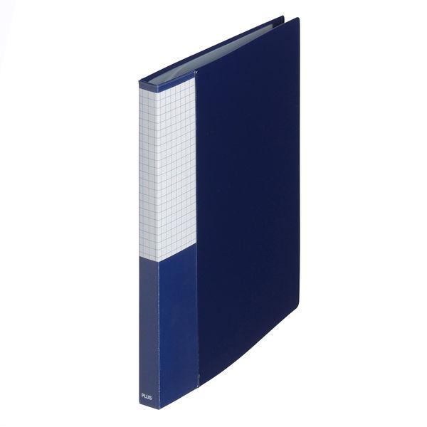 プラス スーパーエコノミークリアーファイル A5タテ 20ポケット ネイビー FC-142EL 88511 1箱(10冊入)