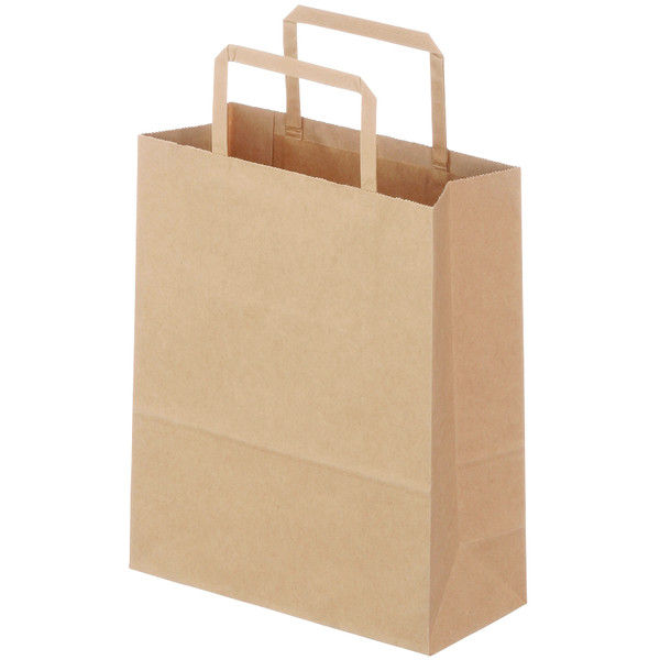 平紐 手提げ紙袋 茶 SS 50枚