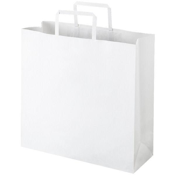 平紐 手提げ紙袋 白 M 50枚