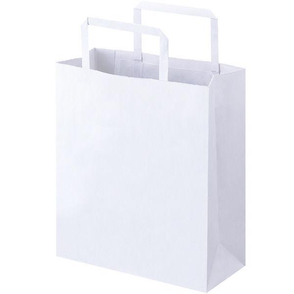 平紐 手提げ紙袋 白 SS 50枚