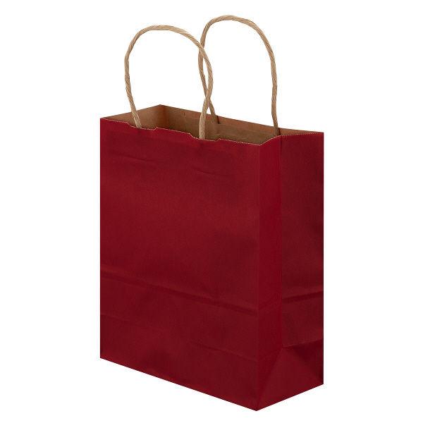 丸紐 手提げ紙袋 赤 SS 50枚