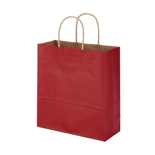 丸紐 手提げ紙袋 赤 S 50枚