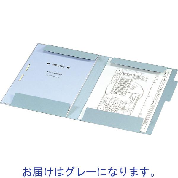 コクヨ 図面個別フォルダー A4 グレー セ-FF9M 1箱(50枚:10枚入×5袋)