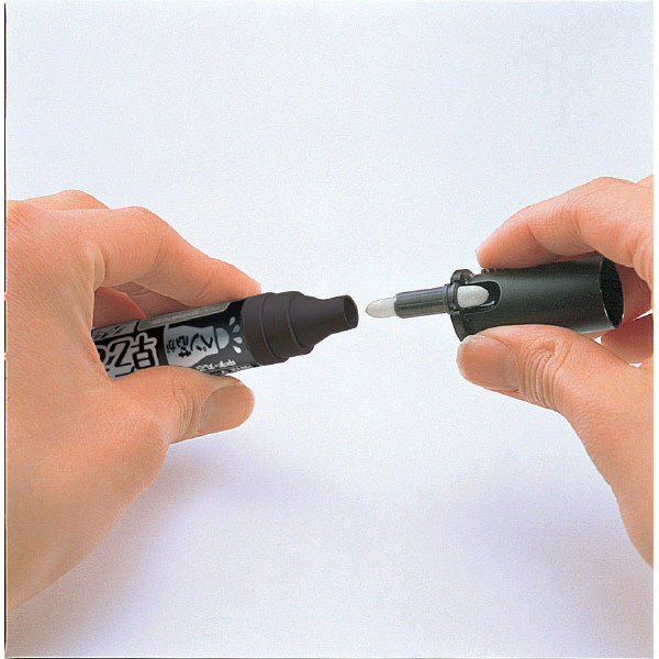 油性マーカー 乾きまペン 中字丸芯 黒