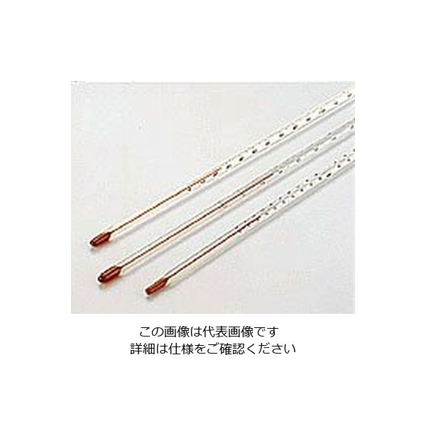 佐藤計量器製作所 赤液棒状温度計 ー20~100℃ 1セット(5個:1個×5本) 1-610-09(直送品)