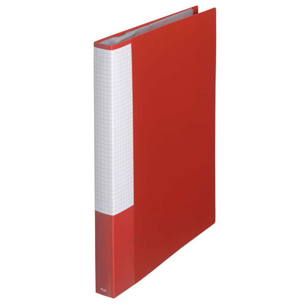 プラス スーパーエコノミークリアーファイル A4タテ 40ポケット レッド FC-124EL 88432 1箱(10冊入)