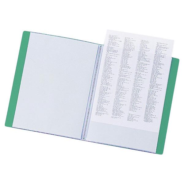 リヒトラブ リクエスト クリヤーブック A4タテ 20ポケット 緑 G3201 業務用パック 1箱(10冊入)