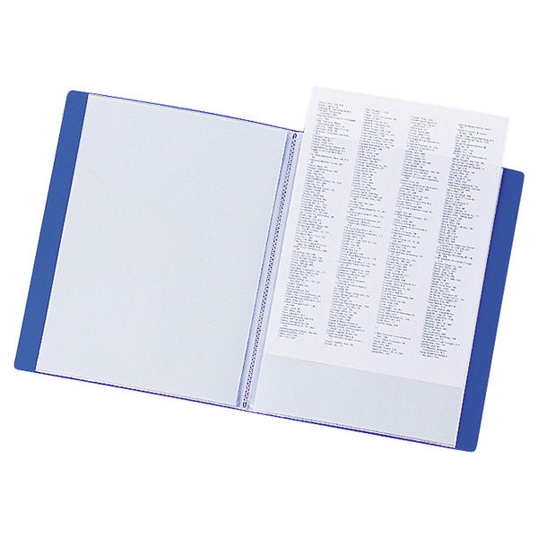 リヒトラブ リクエスト クリヤーブック A4タテ 20ポケット 青 G3201 業務用パック 1箱(10冊入)