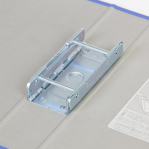 キングファイル スーパードッチ A4タテ とじ厚50mm 3冊 グレー キングジム 両開きパイプファイル 1475クレ