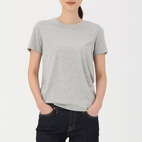 無印 丸首 半袖Tシャツ 婦人S グレー
