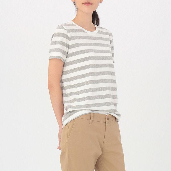 de4335ebf5d89 LOHACO - 無印良品 オーガニックコットンクルーネック半袖Tシャツ ...