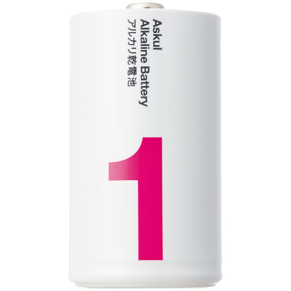 アスクル アルカリ乾電池 単1形100本