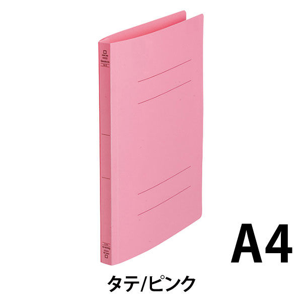 キングジム フラットファイルクイックイン A4タテ ピンク 4432 1袋(10冊入)