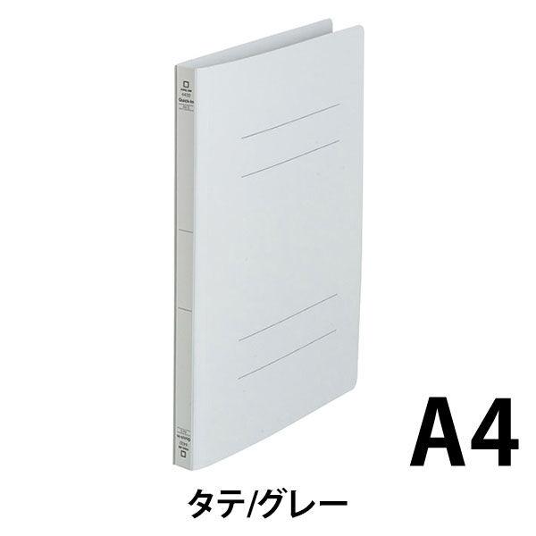キングジム フラットファイルクイックイン A4タテ グレー 4432 1袋(10冊入)