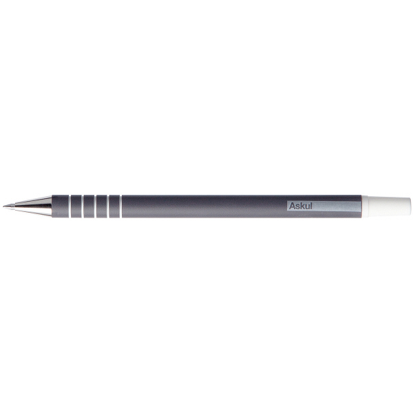 アスクル キャップ式ラバーボールペン 0.7mm 黒インク 油性 10本